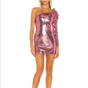 NEW MAJORELLE Darwin Sequin Mini Dress Pink L